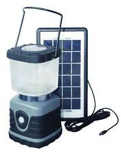 Essential for camping:  SOLAR CAMPING LANTERN 3W Solar Panel, 28 LED, 5 hour on high to 10 hour run time. 3 light settings. Complete with cell phone charging adapter kit. Power a smartphone and USB ported devices with the lantern!  http://www.upgreenrecycling.com/The-GREEN-Market.html