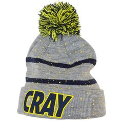 Cayler & Sons Cray Pom Pom Beanie grey/navy/yellow ★★★★★
