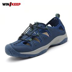 Hot Sale Summer Hollow Out Low Tops Male Athletic Shoes Breathable Briskly Trail Sport Sneakers Hiking Shoes Men Wear Resistance #Affiliate