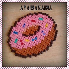 Donut rosa hama midi by by Gema Atakanaka - Hama-Beads Art