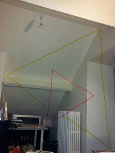 Moi aussi je m'essaye au tape art- Masking tape on my wall