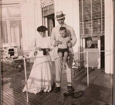 Mathilde, Grand Duke Andrei holding Vladimir. Although, Mathilde claimed in her book Andrei was the father of her son, many believed Grand Duke Sergei Mikhailovich was his actual father. Both men believed themselves to be the father and cared for Vladimir as their own.