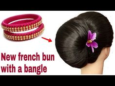 Daily Hairstyles, Bun Hairstyles For Long Hair, Braided Hairstyles, French Bun, French Hair, Bun Styles, Long Hair Styles, Lighter Hair, Graduation Hairstyles