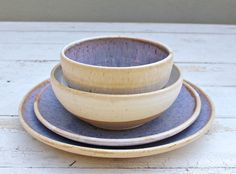 Wedding Dinnerware Registry, Dinnerware; Ceramic Dishes, Clay Place Settings, Pottery Dishes, Bridal Registry, Wedding Registry, handmade by jclayPottery on Etsy https://www.etsy.com/listing/46042703/wedding-dinnerware-registry-dinnerware