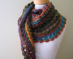 Twisted Granny Scarf.....Love the colours
