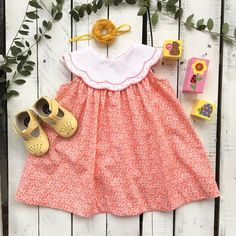 The Little Cottage  ~ Products ~ Sophie and Lucas Dress Coral ~ Shopify