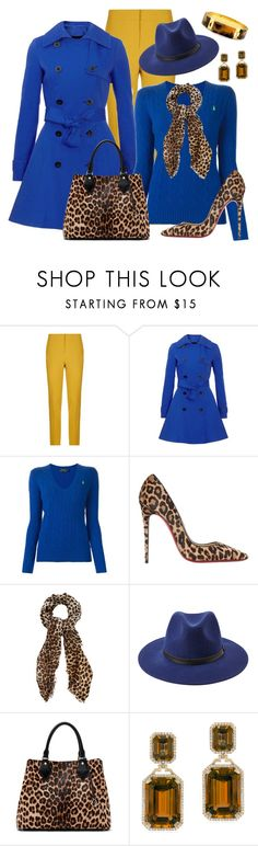 """Royal blue"" by fatange ❤ liked on Polyvore featuring Pinko, Polo Ralph Lauren, Christian Louboutin, Oasis, Forever 21, Diane Von Furstenberg, Goshwara and Pluma"