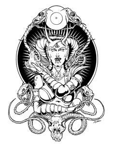 Her Satanic Majesty by luvataciousskull.deviantart.com on @deviantART