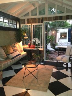 Sitting area opens onto private bricked patio