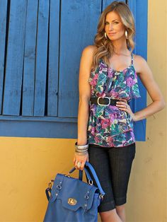 sport a floral tank with a belt this summerrr