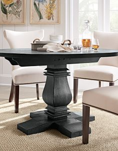 Gentil Embellish A Classic Touch To Your Decor By Adding This Aldridge Washed  Black Dining Table From Home Decorators Collection.