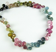 Stunning Watermelon Tourmaline in Pinks Blues by BeadingHeartCo, $59.00