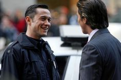 Joseph with Christian Bale on the set of TDKR