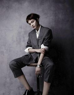 Vogue Netherlands December 2015: Rock Steady Model: Kate Bogucharskaia Photographer: Ruben de Wilde Fashion Editor: Hannah van Well Beauty: Eva Copper