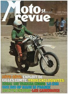 The cover of Moto magazine N ° 2301 of 1977.Rallye Dakar