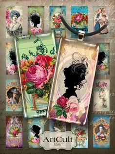 descargar para imprimir de 1 x 2 pulgadas ROCOCÓ dominó Digital Collage hoja para vidrio o resina colgantes bisel foto bandeja ajustes encantos imanes artesanales de ArtCult en Etsy https://www.etsy.com/es/listing/93027336/descargar-para-imprimir-de-1-x-2