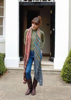 Gratisanleitung: Lässiger Schal aus Ikaria  Dieser lässige Schal aus Schachenmayr Ikaria ist ein wahrer Blickfang und ein Must-have für trendbewusste Modefans.