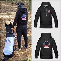 Veteran's day may have come and gone, but you can still show off your support with this USA Flag Paw Print design inspired by service dogs for local veterans. Customize it on Spreadshirt at https://www.spreadshirt.com/usa+paw+print+hoodies-A109544078?department=2&productType=444&color=000000&appearance=2&view=2&utm_content=buffer62843&utm_medium=social&utm_source=pinterest.com&utm_campaign=buffer