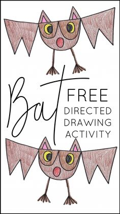 I love to teach my students about bats! The nonfiction and fiction texts to pair with this theme are wonderful, and the cross-curricular activities ar. Halloween Activities, Halloween Art, Preschool Halloween, Halloween Witches, Happy Halloween, Halloween Decorations, Drawing For Kids, Art For Kids, Grade 1 Art