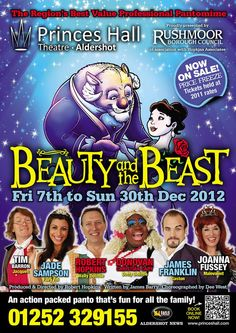 We are the proud sponsors of the Beauty and the Beast pantomime at the Princes Hall in Aldershot this christmas!