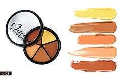 Pure Vie Professional 5 Colors Cream Concealer Camouflage Makeup Palette Contouring Kit 3 >>> Click on the image for additional details.