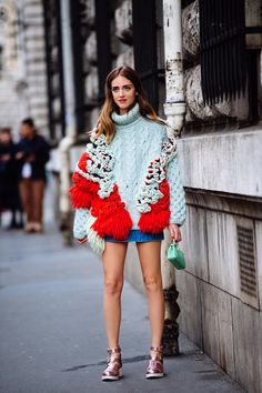 Delpozo knit. Chiara in Paris. #TheBlondeSalad