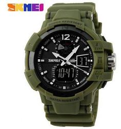 Outdoor Men Sport Watch LED Digital Quartz Multifunction Waterproof Military Wristwatches - 5 Colors