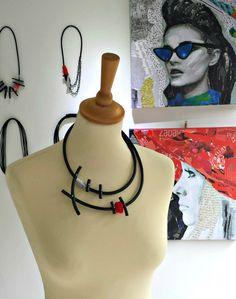 Silver statement necklace Bib necklace Popular necklace