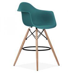 Charles Eames DAW Style Stool - Teal 68cm