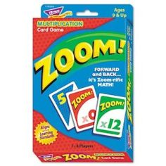 Amazon.com : Trend Zoom Math Card Game for Ages 9 and Up (TEPT76304) : Childrens Mathematics Learning Aids : Office Products