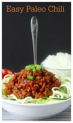 Easy Paleo Chili- this chili is healthy, quick, and so delicious! Whole30, gluten free, and low carb.