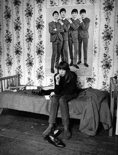 Beatles fan in her London bedroom photographed by Harold Chapman