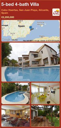 5-bed 4-bath Villa in Cabo Huertas, San Juan Playa, Alicante, Spain ►€2,200,000 #PropertyForSaleInSpain