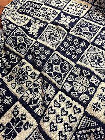 MATIN LUMINEUX: Plaid en Jacquard Double Knitting Patterns, Fair Isle Knitting Patterns, Knitting Machine Patterns, Fair Isle Pattern, Knitting Charts, Knitting Stitches, Free Knitting, Sock Knitting, Knitting Sweaters