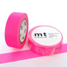 MT Tape Shocking Pink Neon Flouro Washi Tape by Hobbyhoppers