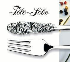 rosemaling,treskurd Telesølv - SØLVBESTIKK Flatware, Kitchen Design, Tableware, October, Cutlery Set, Cuisine Design, Dinnerware, Shun Cutlery, Dishes