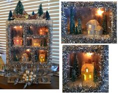Karin Corbin Miniatures: Christmas Village Shadow Box Scene