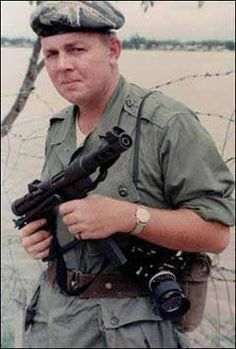 """Joe Galloway, War Photographer, portrayed in the movie, """"We were Soldiers Once...picture taken in Vietnam during the 60's"""