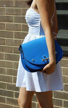 cute, blue purse