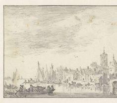 Jan van Goyen, View of Delft, detail. Rijksmuseum