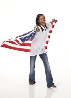 Gabby Douglas. Olympic gymnast. She's so cute.