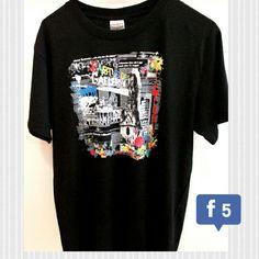 http://www.my-tagshirt.de?utm_content=buffer44f5a&utm_medium=social&utm_source=pinterest.com&utm_campaign=buffer mit einer wunderbaren Collage. Mauerbau, Kennedy-Besuch und Mauerfall, alles auf einem Shirt