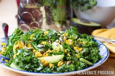Superfoods combo – turmeric chicken and kale salad with honey lime dressing. Gluten Free Recipes, Clean Eating Recipes, Paleo Recipes.