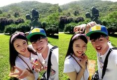 """When Red Velvet's Joy and BTOB's Sungjae appeared on """"We Got Married"""" fans were absolutely convinced they were actually in love. Sungjae And Joy, Sungjae Btob, Kpop Couples, Cute Couples, Sung Kyung, Sung Jae, South Korean Girls, Korean Girl Groups, Seulgi"""