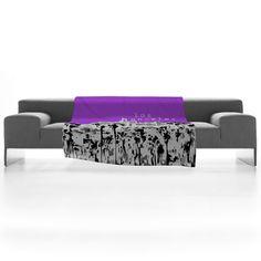 Bird Ave 'Los Angeles Purple' Fleece Throw Blanket