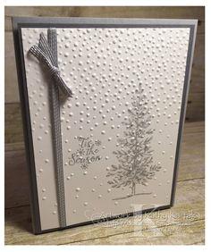 #stampinup #faithfulinkspirations The last of the cards for my September Christmas card-making class also features a clean and simple de...