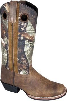 Smoky Mountain Women's Tupelo Camo Cowgirl Boot Square Toe - 6470 >> To view further, visit now : Women's cowboy boots