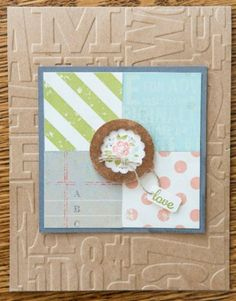 Best of Shelli  stamp set - I love how the tiny flower image in the center is framed - looks like the brown circle is above the white scallop circle