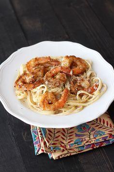 Crispy Cajun Shrimp Fettuccine ~ Handle the Heat