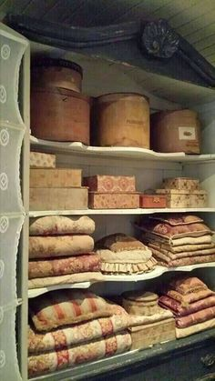 Vintage Linens and Fabric Wrapped Boxes - Shabby Chic With Love - House Shabby Chic